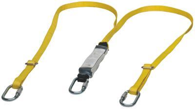 Les longes avec absorbeur d'énergie relient le point d'ancrage d'arrêt de chute des harnais intégraux MSA à un ancrage a