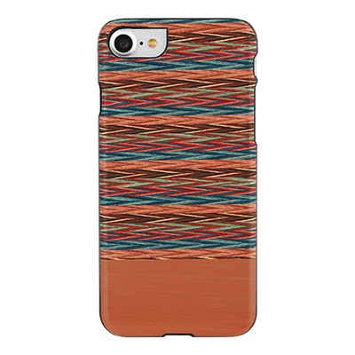 iphone-7 real de madera de la caja del teléfono(Brown de Verificación)