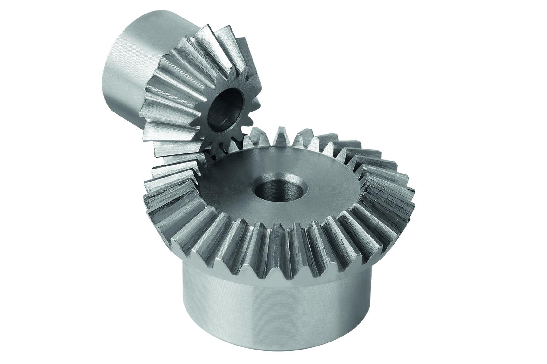 Übersetzung: 1:1, 1:2, 1:3 oder 1:4. Werkstoff: Stahl 1.0503 (C45). Ausführung: Verzahnung gefräst, gerade verzahnt. Ein
