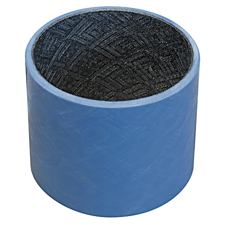 Self-lubricating fiber reinforced composite plain bearings with a machinable liner, providing tight dimensional control
