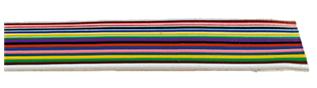 Färgmärkt flatkabel. Dessa flexibla flatbandsledningar används för utrymmesbesparande förbindning i mät- och styranläggn