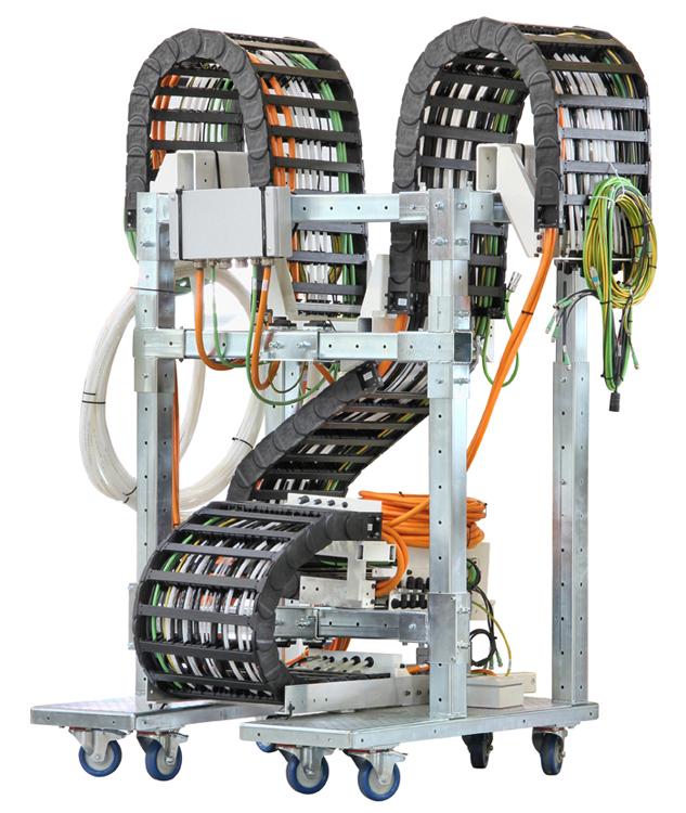 Energiekettensysteme, Steckverbinder und spezielle hochflexible Leitungen für Energieketten nach diversen Herstellerstan