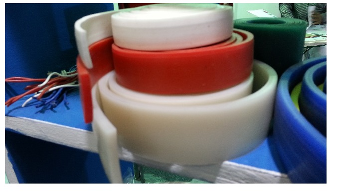 Silicone Sponge Rubber Strips : Silicone Rubber Strips available in 0.3 mm Thk to as per customer requirements in Red &a