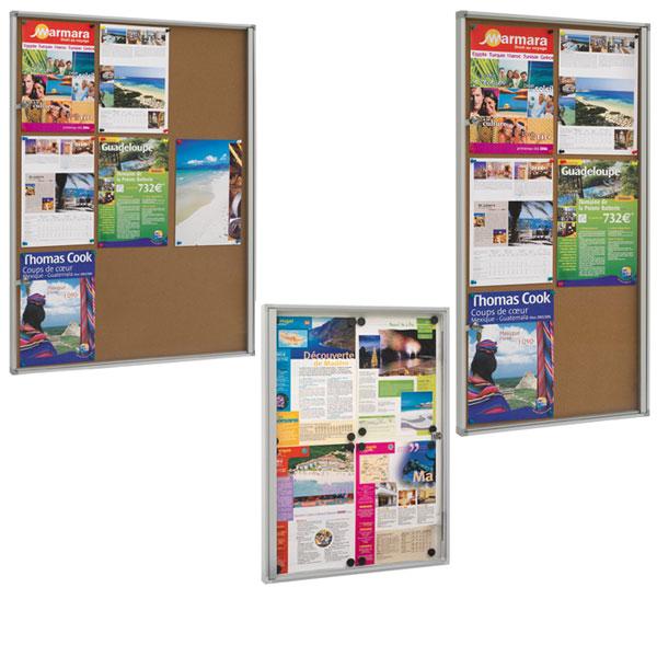 Pour valoriser toutes vos informations, affiches, notes de service, consignes, posters... Cadre aluminium anodisé nature