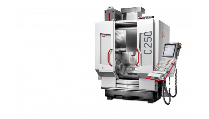 Within the Hermle range of models, the C 250 is an entry-level model into the world of 5-axis & 5-sided machining. Never