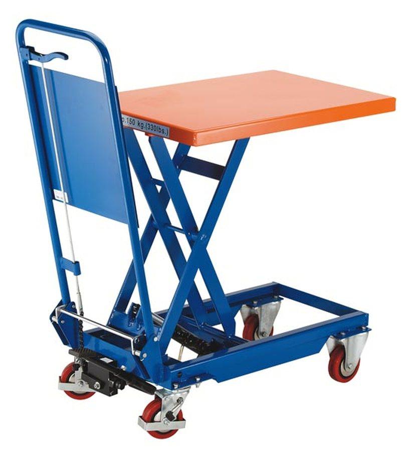 Tragfähigkeit 150 kgAnheben durch Pumppedal, stufenlose Handgriffabsenkung. Langlebige und ausgereifte Geräte. Servicefr