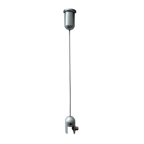 Idéal pour suspendre panneaux rigides, plaques, signalétique, etc. Accepte toutes épaisseurs comprises entre 1 mm et 8 m