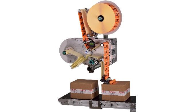Leistungsstarkes Etikettiersystem für extrem hohe Spendegeschwindigkeiten von bis zu 60 m/min Modulare Komponenten gewäh