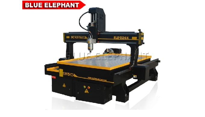 ELECNC-1324-4 4 axis CNC Router Machine for Stone Engraving and Carving