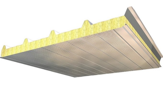 Acoustic insulation up to 41 dB with ACH 5 Ribs Roof Panels (P5G)
