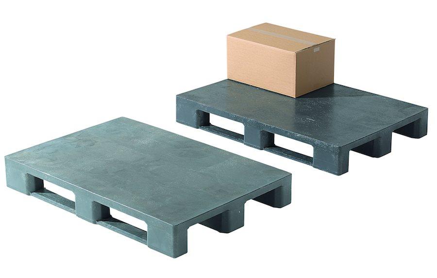 ohne Rand, Oberdeck geschlossenAuf Anfrage auch mit RFID-Technologie lieferbar. Aus recyceltem Polyethylen Aufgrund der