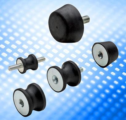 The new DVB and DVC rubber bushes from Elesa offer vibration damping for mounting of motors, rotating machines, vibratin