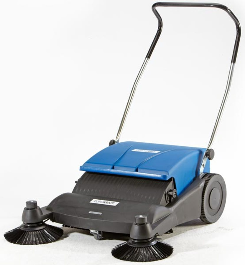 Ideal zum Kehren aus Kanten. Besonders geeignet für feinen und groben, trockenen und nassen Schmutz wie Papier, Laub, Me