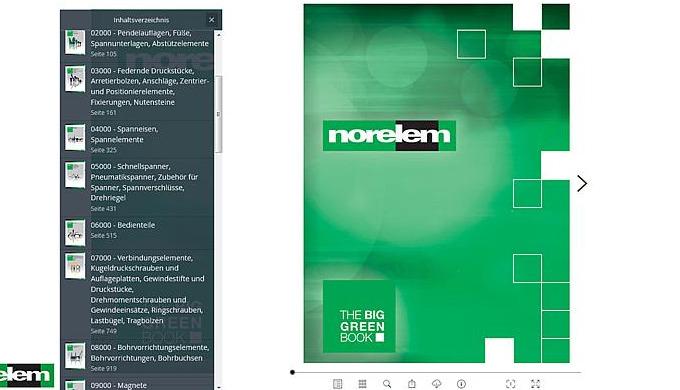 Der norelem-Blätterkatalog ist verfügbar. Mit Inhaltsverzeichnis, zum Shop verlinkten Produktseiten und PDF-Erstellung e