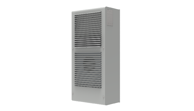 Outdoor air conditioner for electric cabinets. Protherm it allows a seamless integrationin the electric cabinet and is