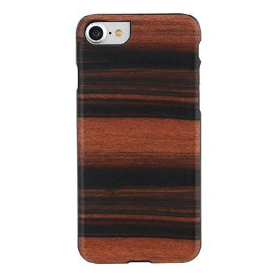 iphone-7 real de madera de la caja del teléfono (Ébano)