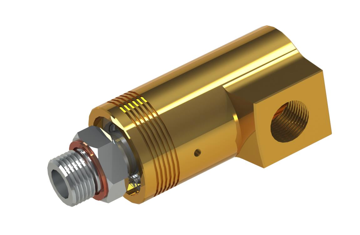 Rotating joint with small diameter for water Product characteristics: single inlet/outlet line or combined inlet/outlet