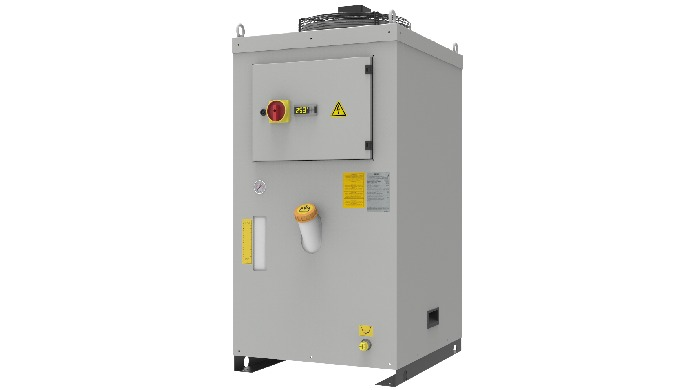 Liquid chiller with vertical structure