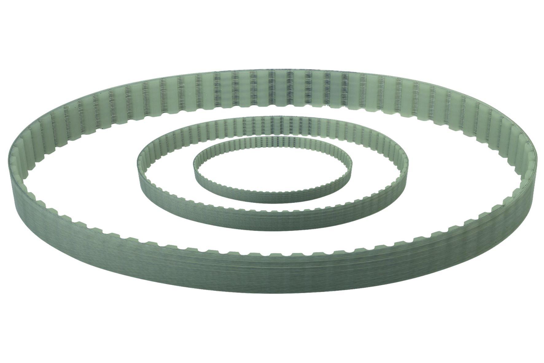 Werkstoff: Polyurethan (PU) mit Stahlzugstrang. Temperaturbereich: -30°C bis +90°C - wartungsfrei - hohe Leistungsübertr
