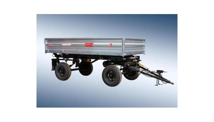 Remorcaautodescarcabilapentru tractor2-PTS-6estedestinatapentru transportarea prosuselor agricole pe diferite tipu