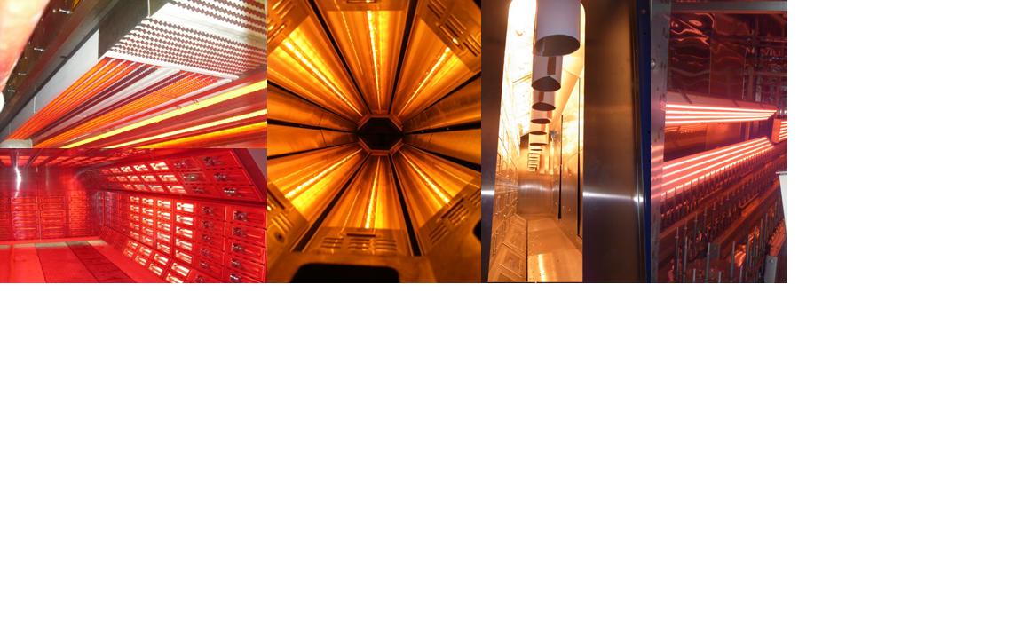 Conception et fabrication de fours et émetteurs infrarouges pour tout type d'industrie. Chauffe directe et sans contact.