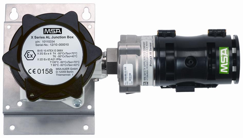 Le détecteur primaX IR assure la détection des gaz combustibles en % LIE (Limite Inférieure d'Explosivité) grâce à sa co
