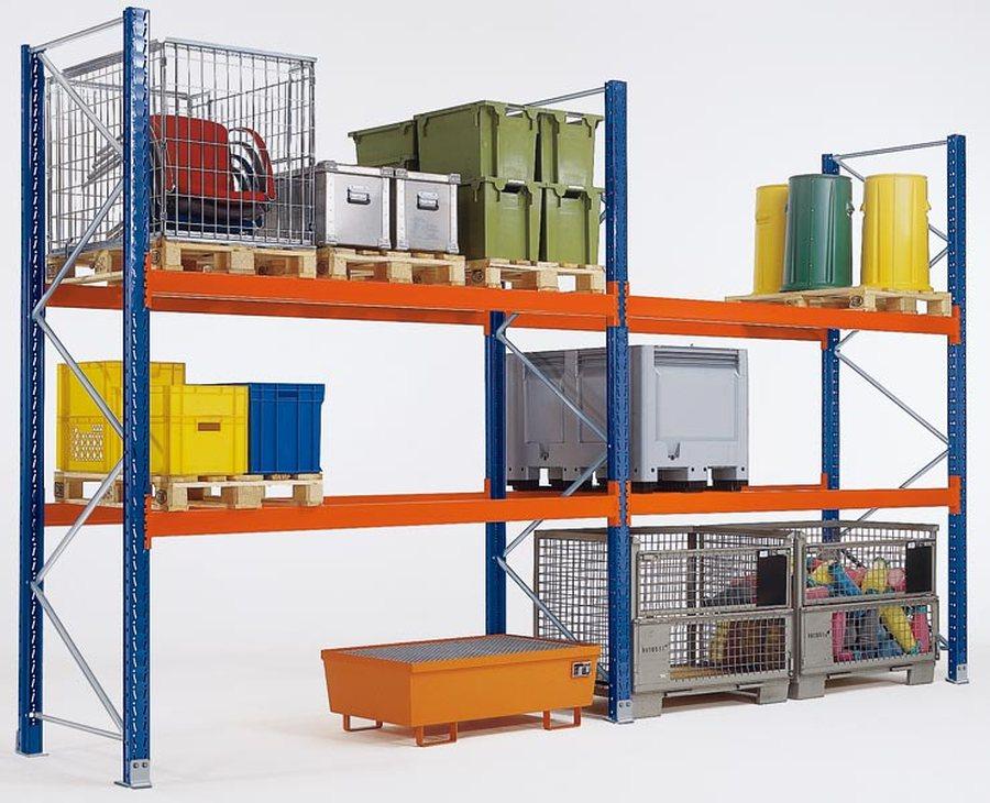 Stahl, kunstharzlackiertGesamthöhe = Rahmenhöhe + 5 mm Fußplattenhöhe. Stützrahmen: Aus 2 Ständerprofilen mit verzinkten