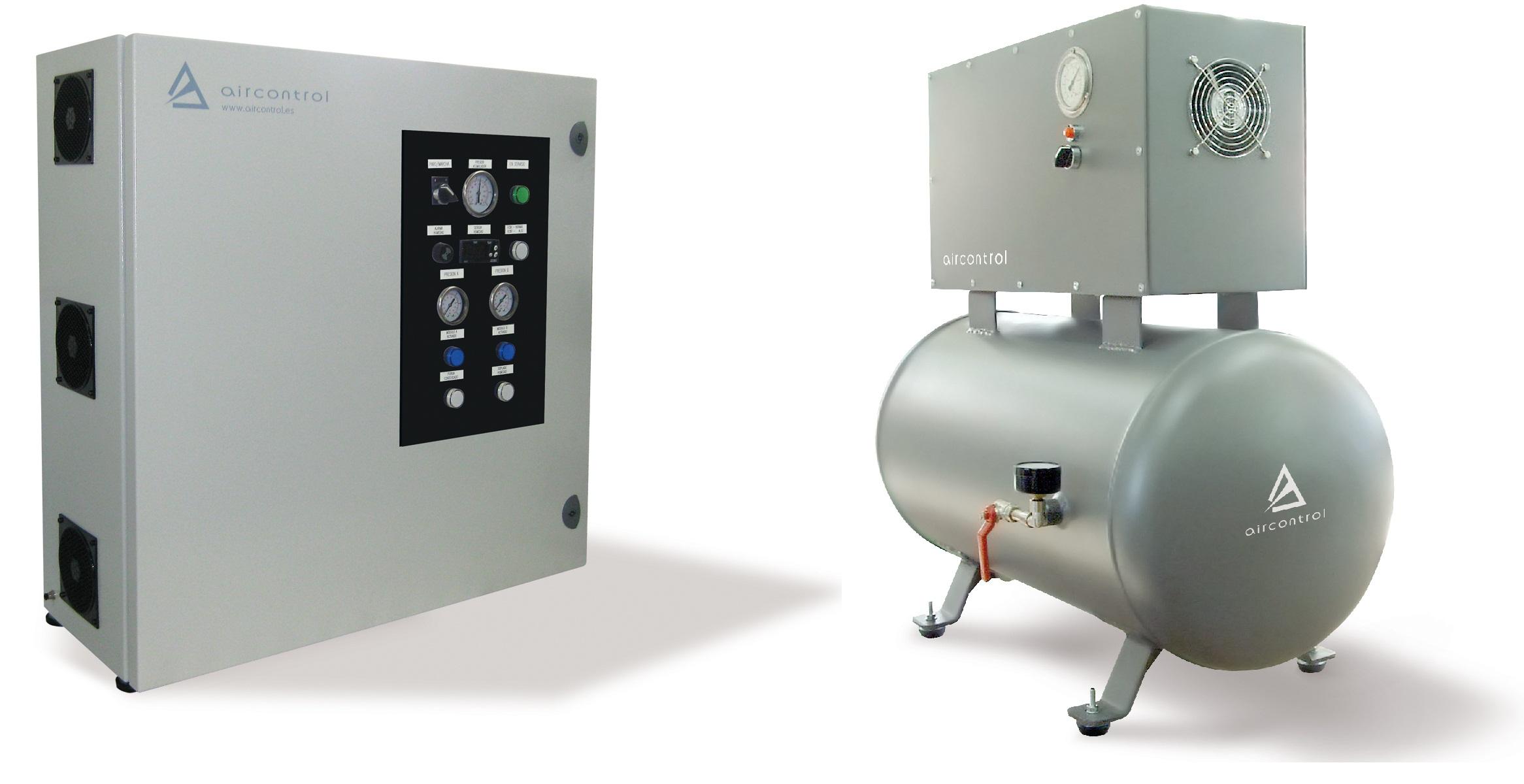 Compresores de aire seco y limpio para aplicaciones especiales. Ejemplos: laboratorios,instrumentos de medición ambienta