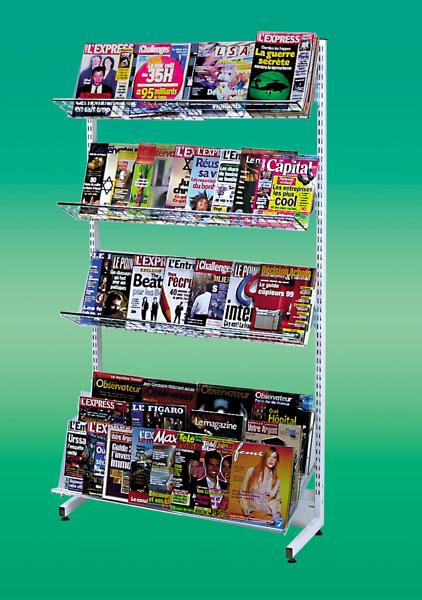 Pour un maximum de présentation sur un minimum de surface de vos journaux Utilisation sur des lieux de vente multiples :