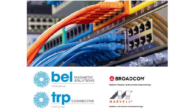BEL edita guías de compatibilidad de los RJ45 con transformador integrado con los integrados de BROADCOM y MARVELL