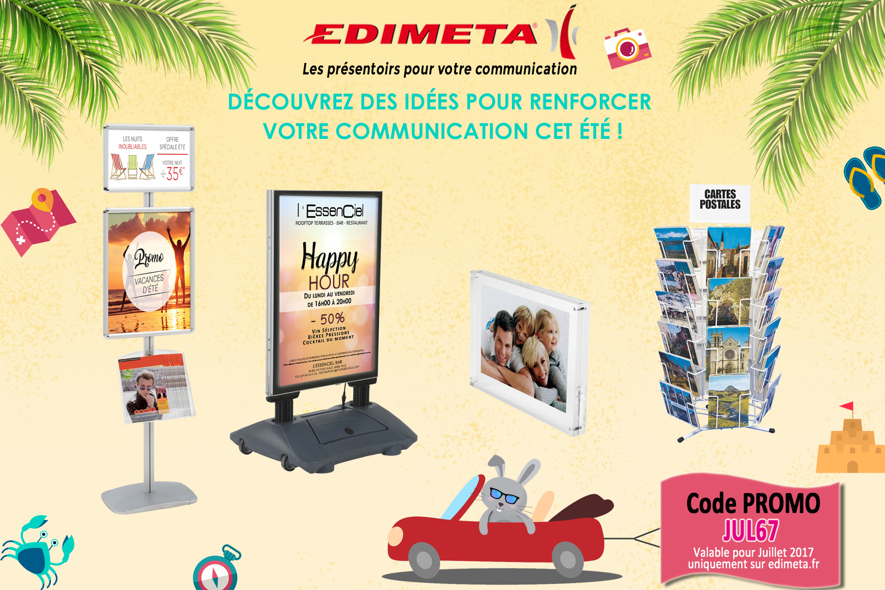EDIMETA - Code promo pour Juillet 2017