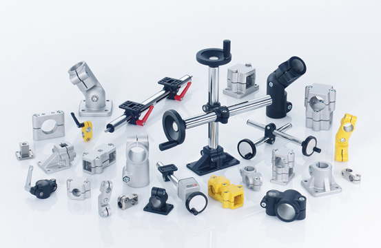 GN series connecting rods and clamping system for equipment mounting from Elesa UK