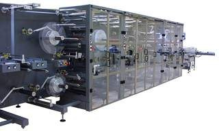 Technische Daten:Output: up to 1,200 products/min (multi lane, single lane solutions available)Web speed: up to 70 m/min