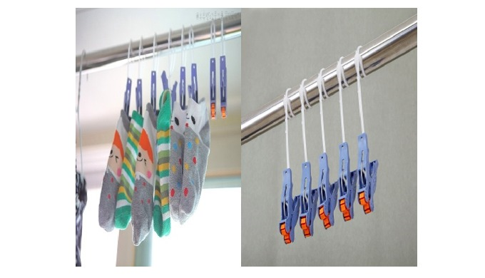 You can finish laundry in 1 second only only If you gather laundry and pull at one time as a pulley is fitted in tongs!