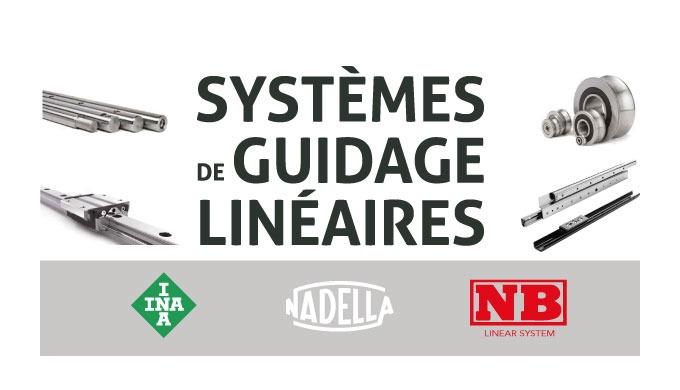 GUIDAGELINÉAIRE Le programme INA des systèmes de guidage linéaire comprend non seulement des guidages par arbres et dou