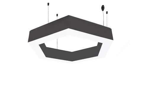 single articulated lighting fixtures with frosted acrylic diffuser
