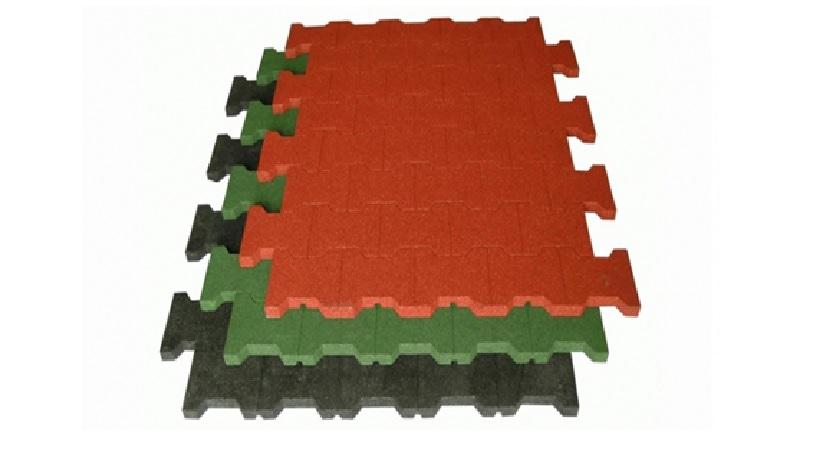 pryžové podlahové zámkové desky