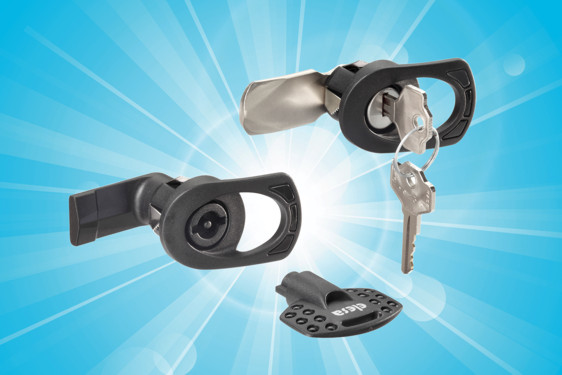 IP65 quarter-turn, quick-fit latches