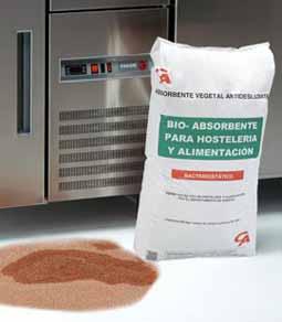 Estos absorbentes se utilizan en el sector alimentario. Gran poder de absorción, bacteriostático y biodegradable en un 9