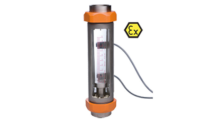 Mess- / Schaltbereich: 1,1 - 11 Nl/h ... 1000 - 10000 l/h Wasser 36 - 360 l/h ... 18 - 180 Nm⊃3&#x3b;/h Luft Anschluss: G &fr