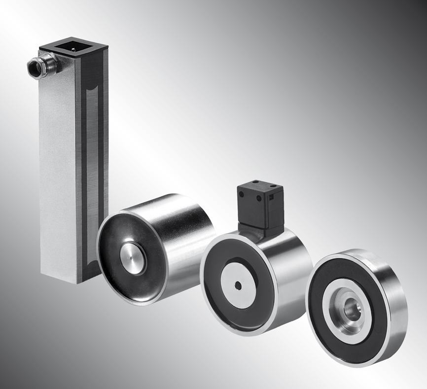 Une ventouse électromagnétique ou ventouse avec maintien sous tension est équipée d'une bobine. Elle permet de mainteni