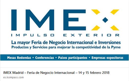 康帕斯将参展 IMEX马德里大展 - 西班牙最大的国际商务交易会
