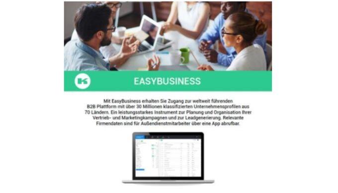 Mit EasyBusiness erhalten Sie Zugang zur weltweit führenden B2B Plattform mit über 30 Millionen Firmen aus über 60 Lände