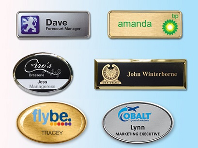 name badges : ​Reusable Plastic Panel nme badges Metal panel name badges Executive name badges​All designed and made in