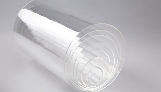 Tube en polycarbonate extrudé rond transparent Couleur : incolore transparent Diamètre : 8 à  212 mm.