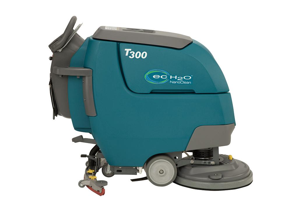 Este o maşină de spălat pardoseli ce înlocuieşte modelul de success T3. Echipamentul T300 este superior T3-ului, având r