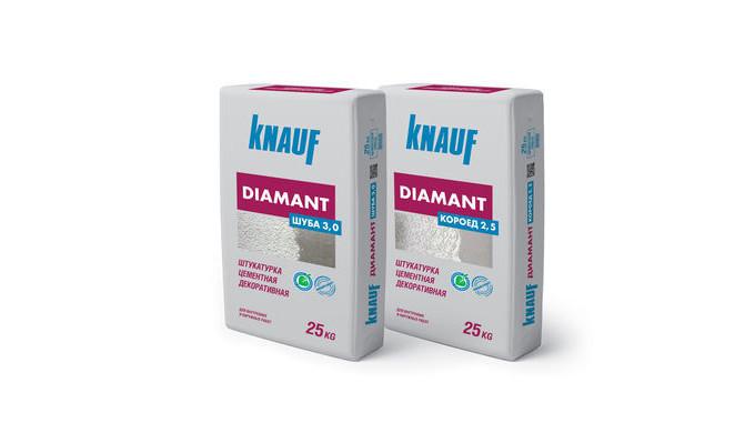 Ipsos, tencuială, hidrofuge, pentru exterioare Knauf Diamant.