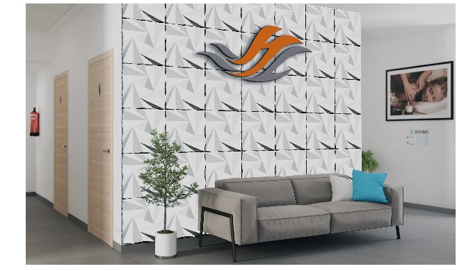 Product name: ORIGAMI 50cm * 50cm * 1.5cm size eco-friend 3D wall panels for indoor wall and ceiling, which has various