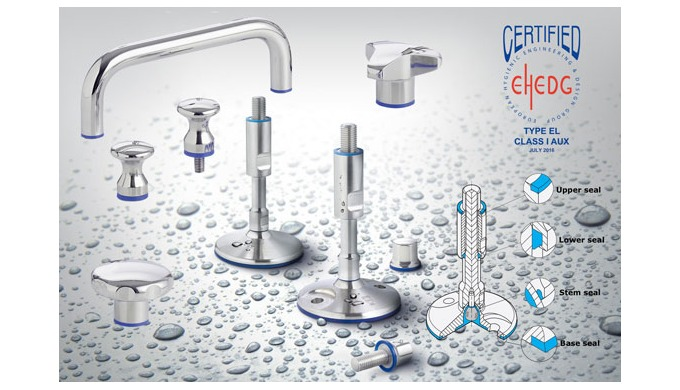 The Elesa series of hygienic knobs and handles in stainless steel with FDA compliant sealing compliment their establishe