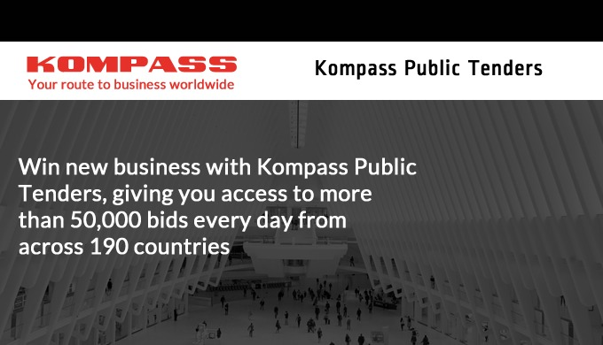 Kompass Public Tenders is our online global tenders service which is used by companies looking to identify new business